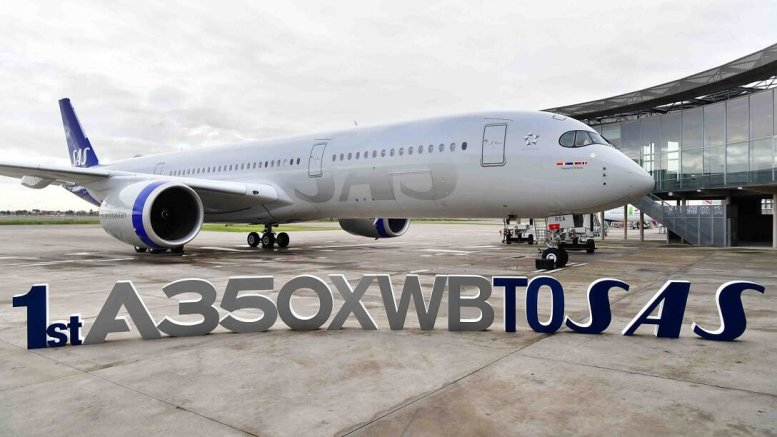 Scandinavia's SAS takes delivery of its first Airbus A350 XWB 1