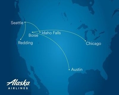Alaska Airlines launches new Boise, Chicago, Idaho Falls and Redding flights 8