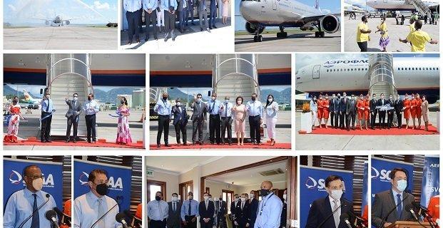 Aeroflot's inaugural flight touches down in Seychelles 1