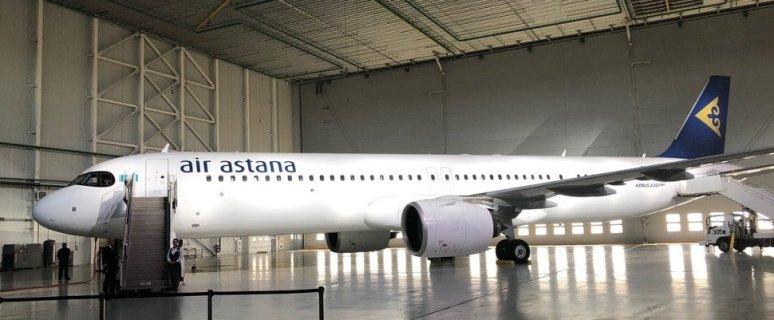 Air Astana receives its sixth new Airbus A321LR jet 19