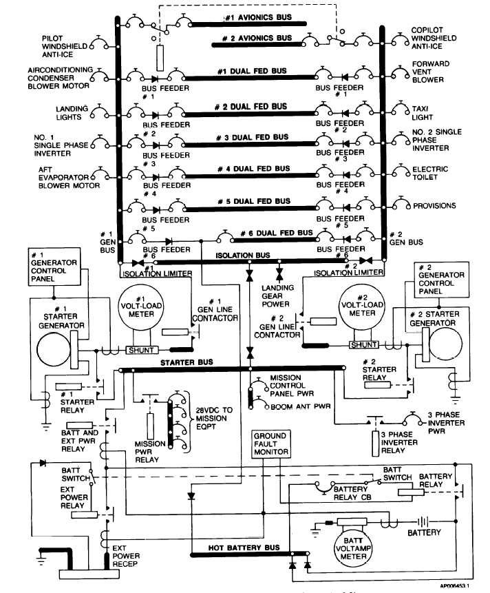 Figure 2-22. DC Electrical System (Sheet 1 of 3)