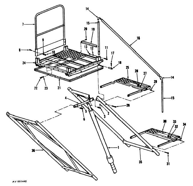 Figure 2. Upper Structure Assembly, Exploded View