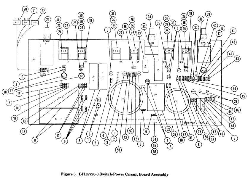 Figure 3. BH15720-3 Switch-Power Circuit Board Assembly