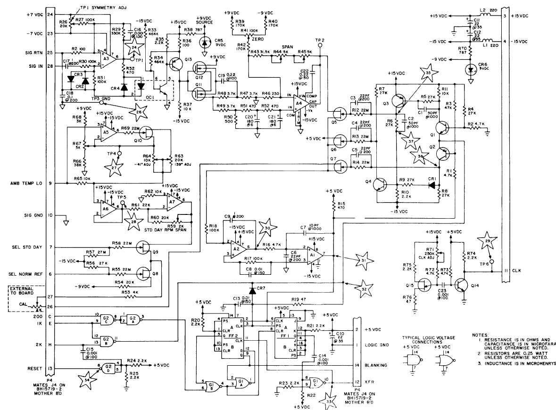 F0-5. Tachometer Board, BH15717-1, Schematic