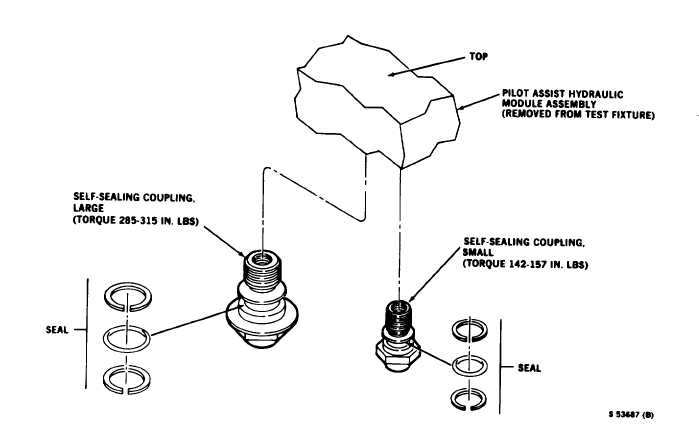 Figure 4-7. Male Quick-Disconnect Couplings Removal and