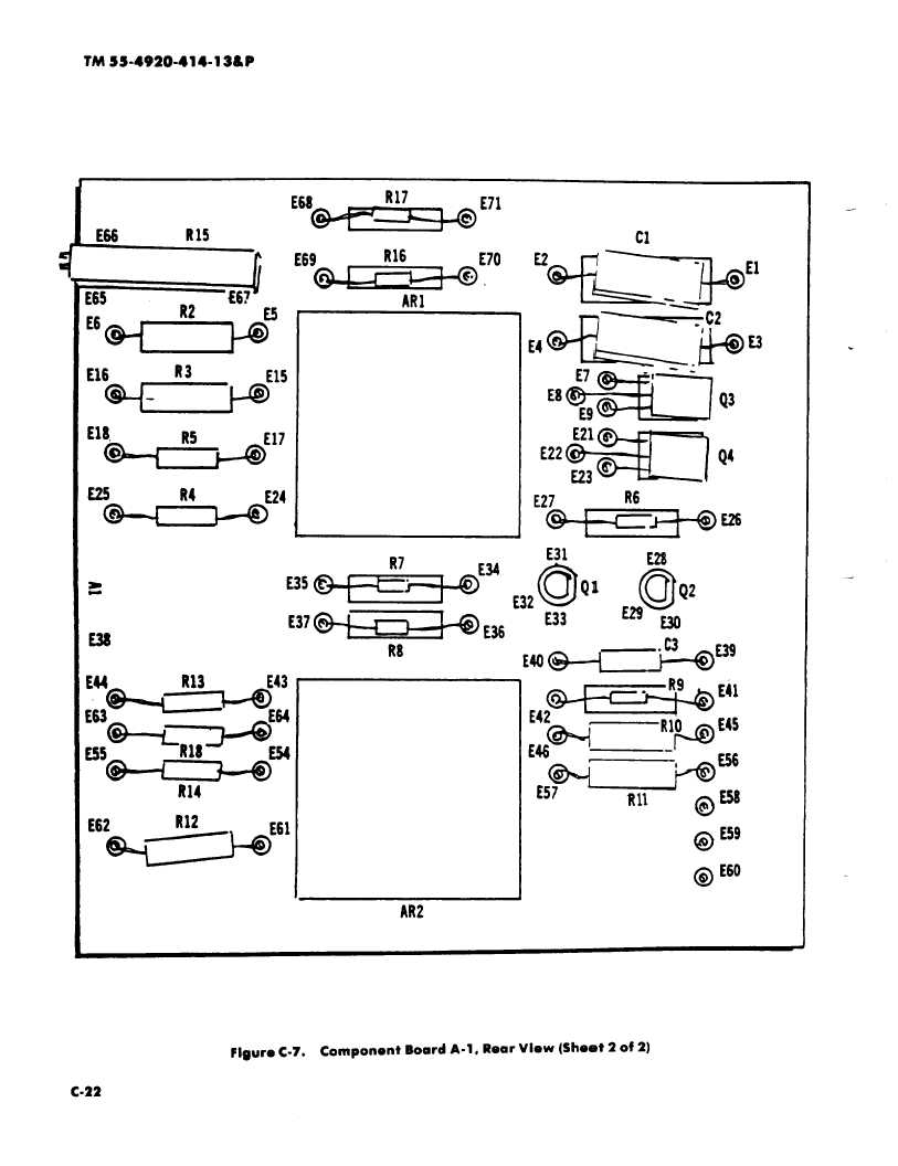 Figure C-7. Component Board A-1, Rear View (Sheet 2 of 2)