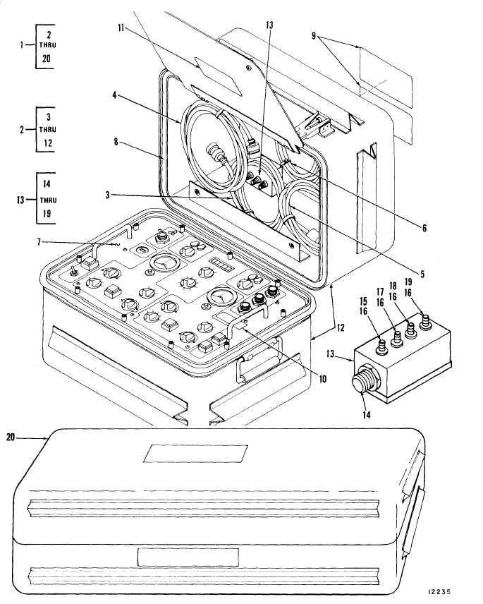 Figure 1. Exploded View of ILCA Bench Test Set