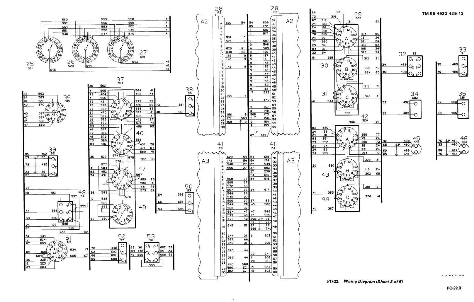 FO-22. Wiring Diagram (Sheet 3 of 5)
