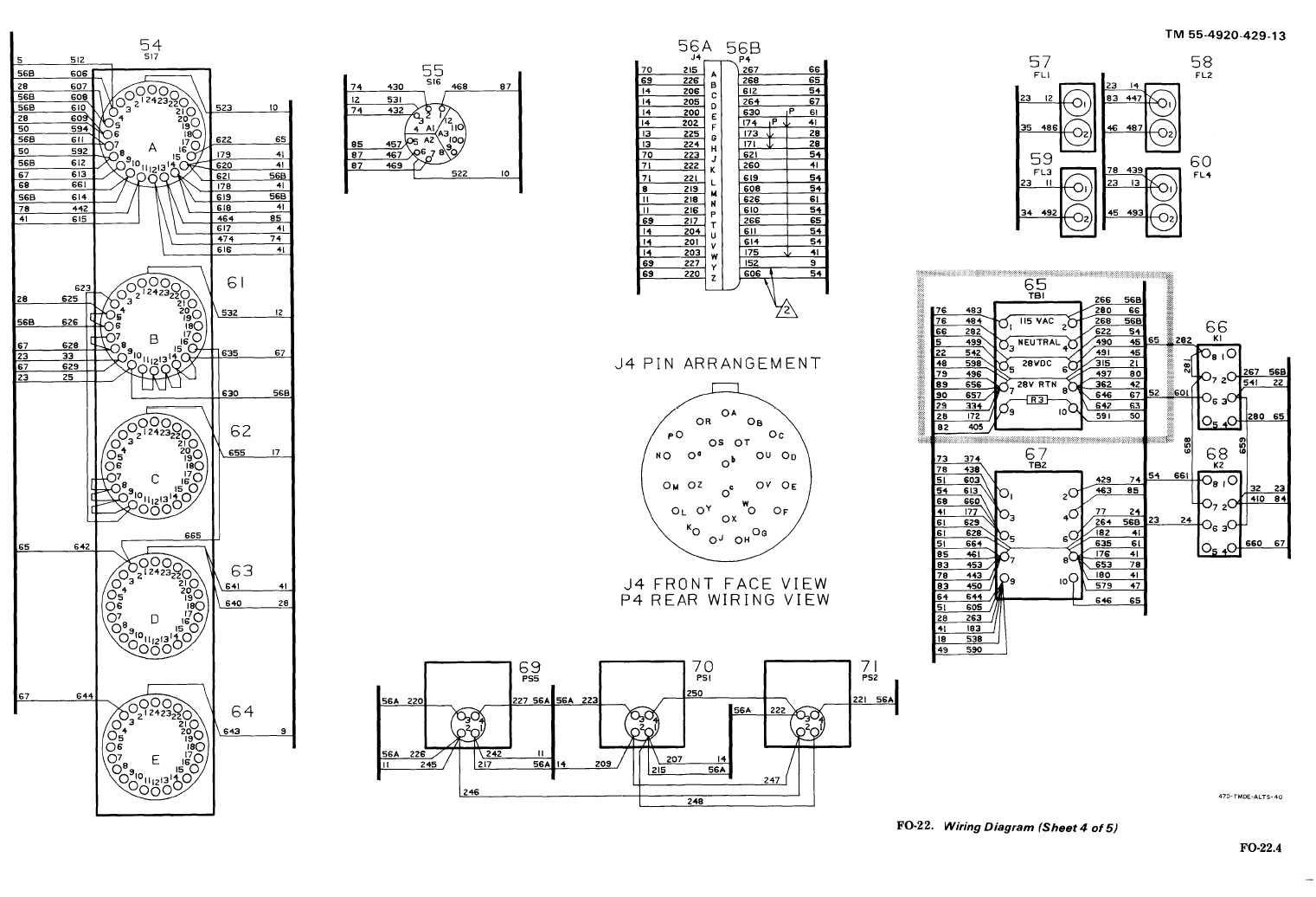 FO-22. Wiring Diagram (Sheet 4 of 5)