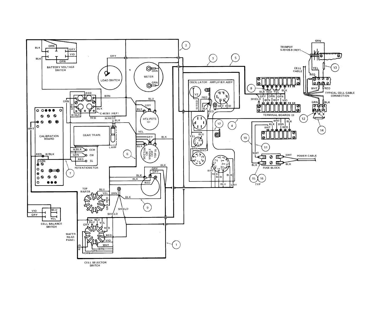 Figure 4-3. Indicator Assembly Wiring Diagram (Model M-1)
