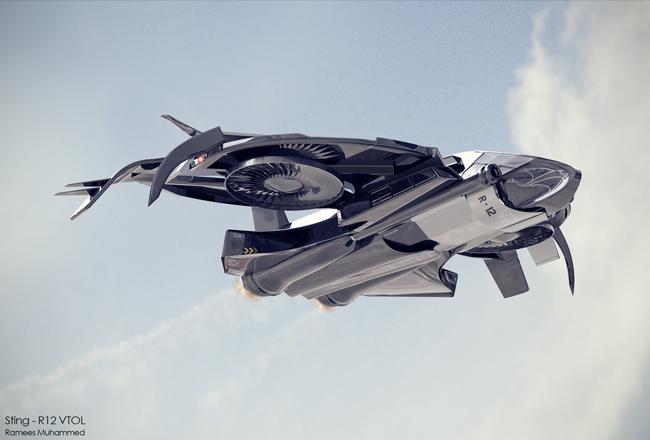 Futuristic Vtol Aircraft