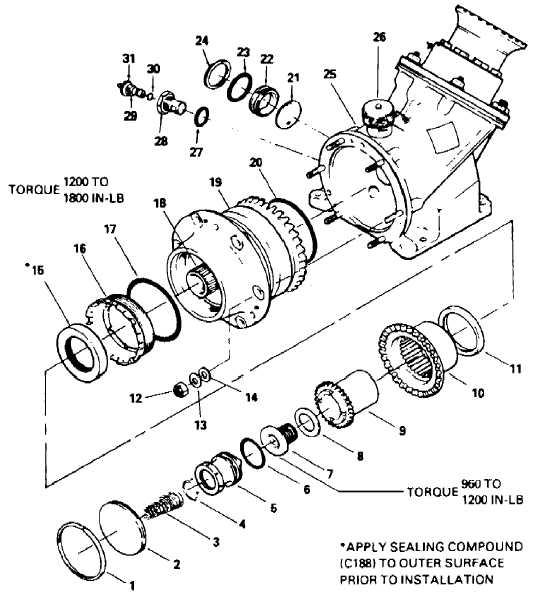 Figure 3-3.H. Intermediate Gearbox (42 )(UH--1)