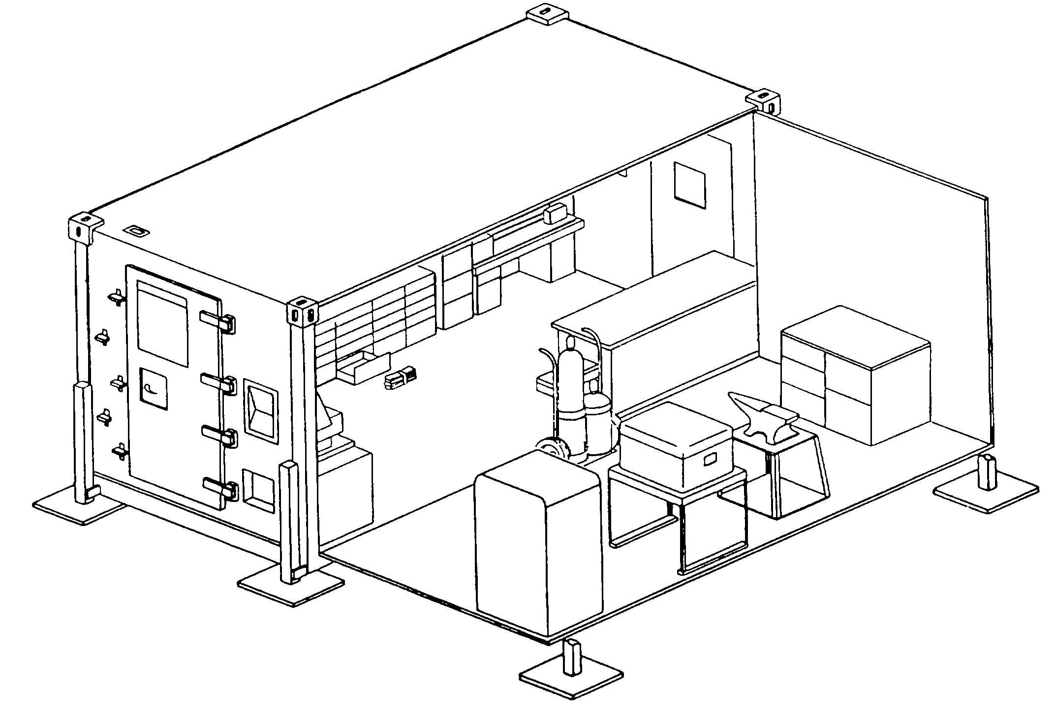 Figure 2-1. Temporary Shop Layout