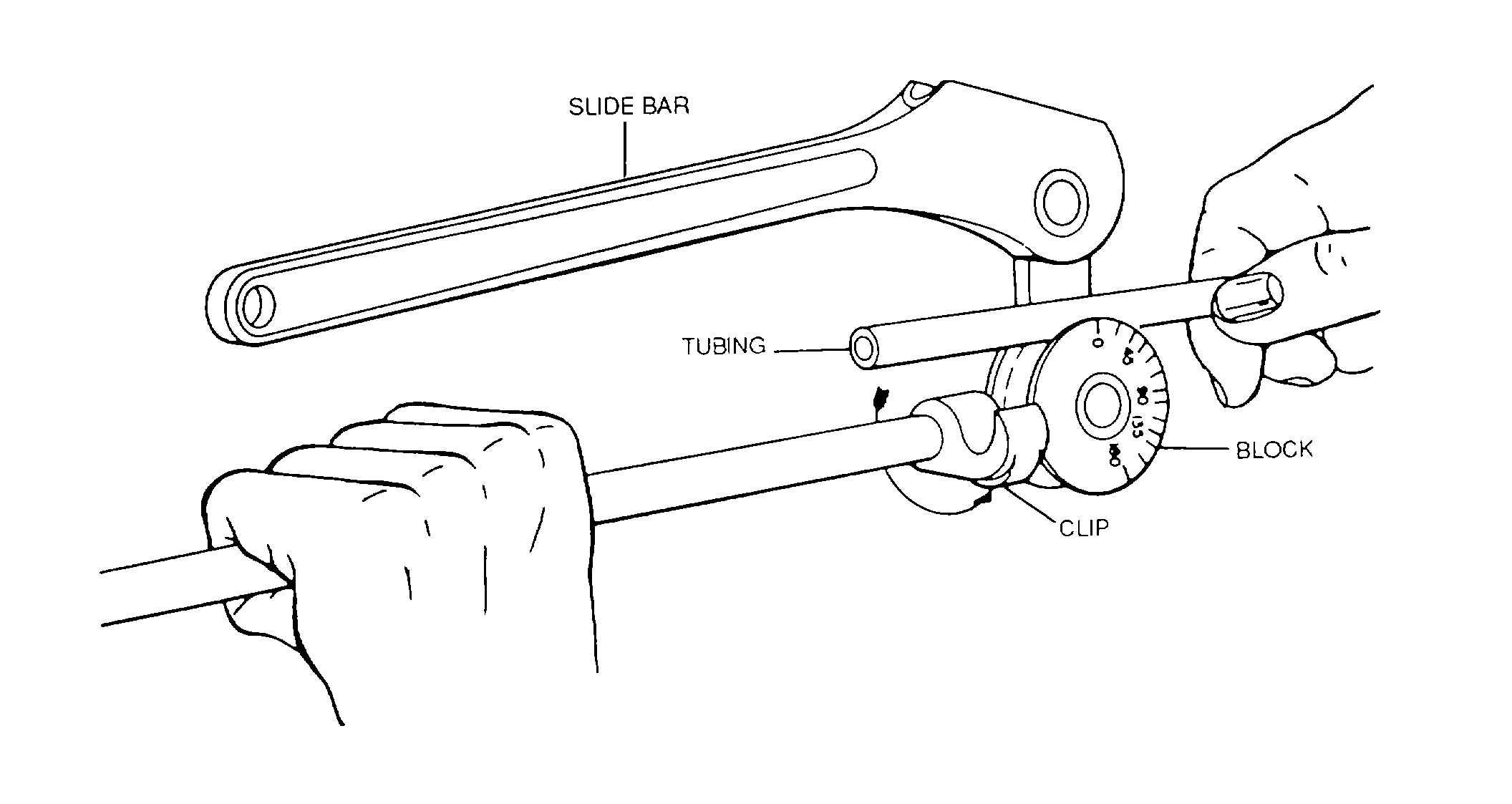 Tube-Bending Machine, Hand-Operated.
