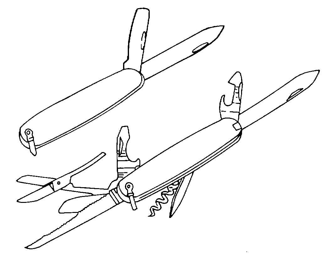 Pocket Knife Coloring Pages Sketch Coloring Page