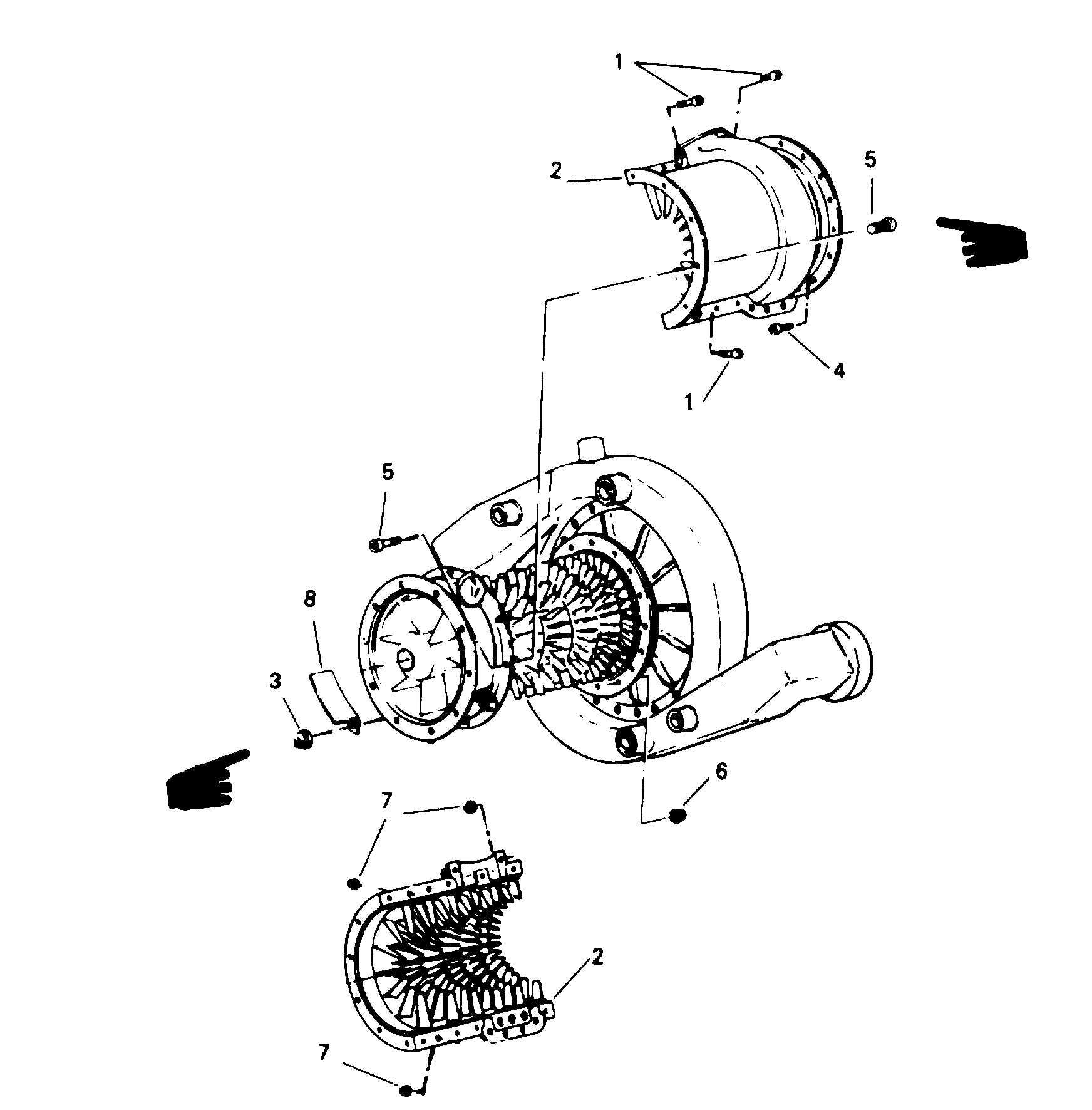 Figure 6-1 . Compressor Case Assembly