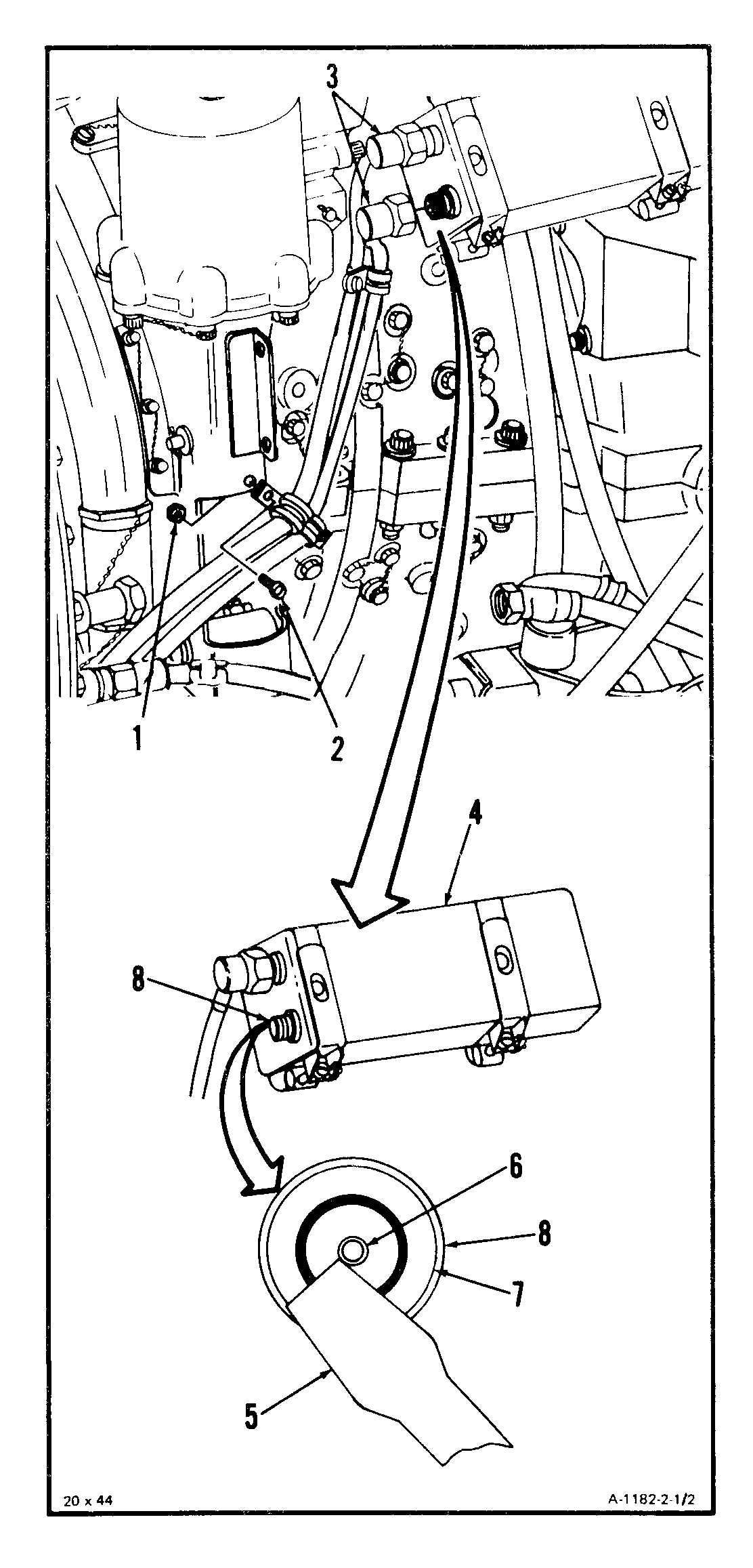 REMOVE INTERSTAGE AIR-BLEED ACTUATOR