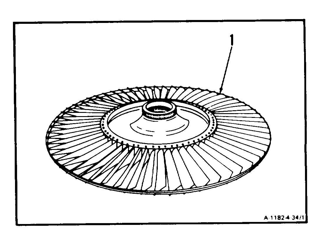 Clean Fourth Stage Power Turbine Rotor