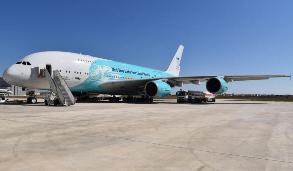 Airbus A380 HiFly Korallenriff-Lackierung.JPG.8674236.JPG