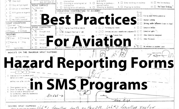 How to Make Effective Hazard Reporting Forms for Aviation