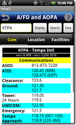 AFD communications screen