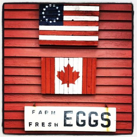 Fresh eggs sign in Jeffersonville