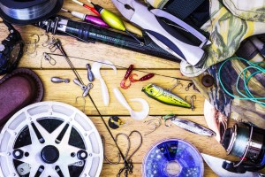 Fishing gear on the table