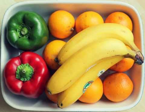 fruits orange banana