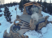 Tiny house for snowboarder