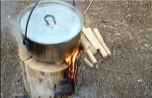 How to make a Swedish Fire Torch Stove Bushcraft Skill