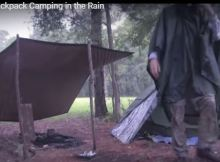 Camping in the rain without hating it.
