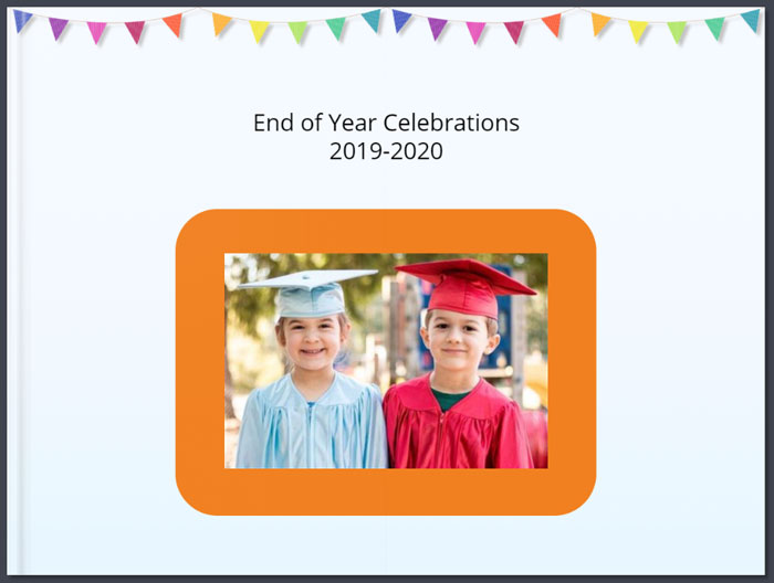 Graduation photo album for online learning