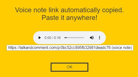Talk and Comment Screenshot