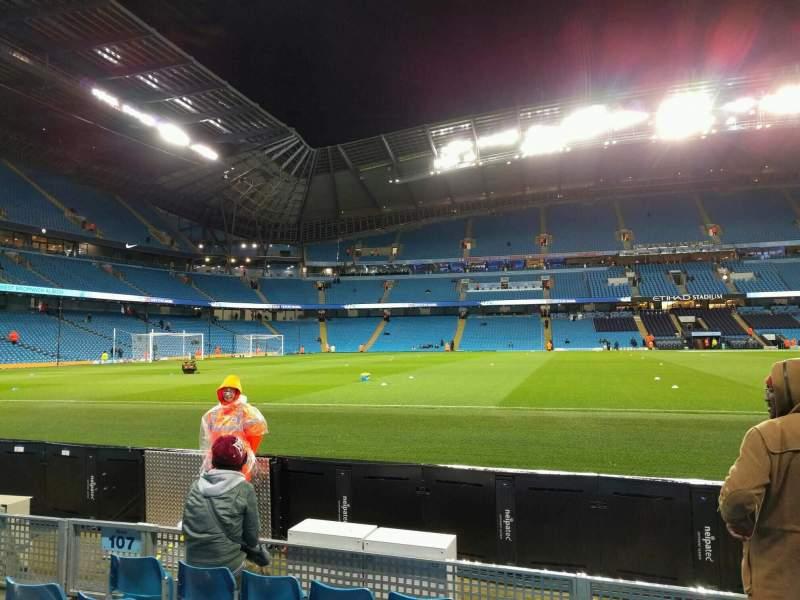 Etihad Stadium Manchester Section 106 Row C Seat 149