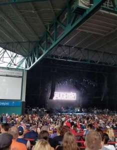 Veterans united home loans amphitheater section row  seat also rh aviewfrommyseat