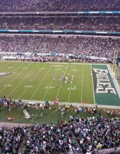 Lincoln financial field section row seat also home of philadelphia eagles rh aviewfrommyseat