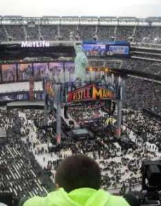 Metlife stadium section row seat also wwe photos at rh aviewfrommyseat