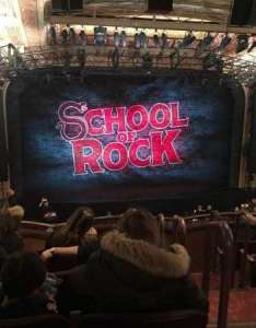 Winter garden theatre section mezz center row  seat school of rock also rh aviewfrommyseat