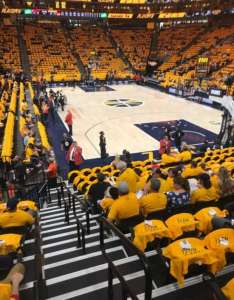 Vivint smart home arena section row seat also of utah jazz rh aviewfrommyseat