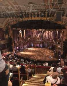 Richard rodgers theatre also section rear mezzanine  row  rh aviewfrommyseat