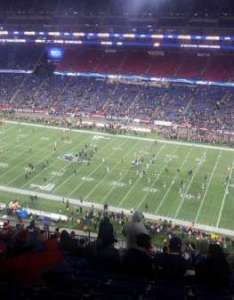 Gillette stadium section row seat also home of new england patriots rh aviewfrommyseat