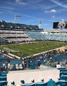 Tiaa bank field section row  seat also home of jacksonville jaguars rh aviewfrommyseat