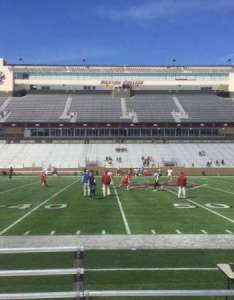 Alumni stadium section  row seat also home of boston college eagles rh aviewfrommyseat