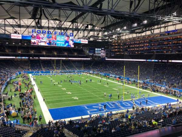 Photos at Ford Field that are behind an endzone.