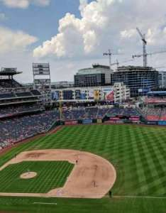 Nationals park section row  seat washington also home of rh aviewfrommyseat