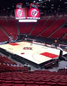 Viejas arena section  row seat also home of san diego state aztecs rh aviewfrommyseat