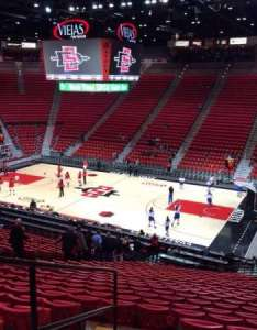 Viejas arena section  row seat san diego state aztecs also home of rh aviewfrommyseat