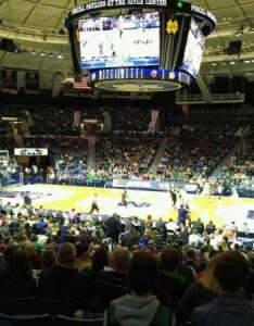 Joyce center section row seat also home of notre dame fighting irish rh aviewfrommyseat