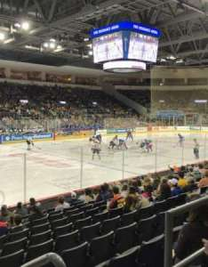 Erie insurance arena section row  seat also home of bayhawks otters rh aviewfrommyseat
