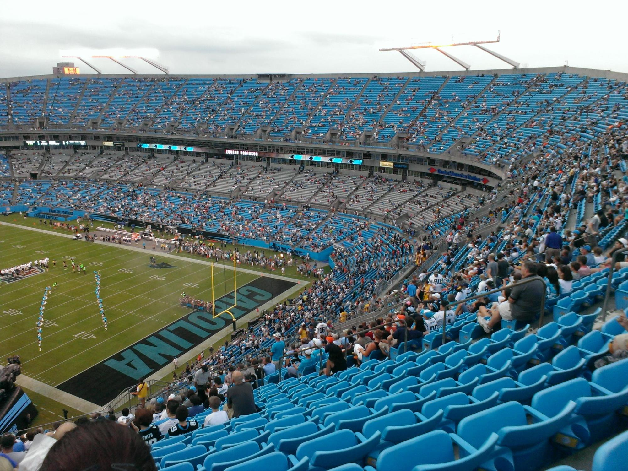 hight resolution of bank of america stadium section 506 row 22 seat 15 carolina panthers vs chicago bears shared by pyrosnine
